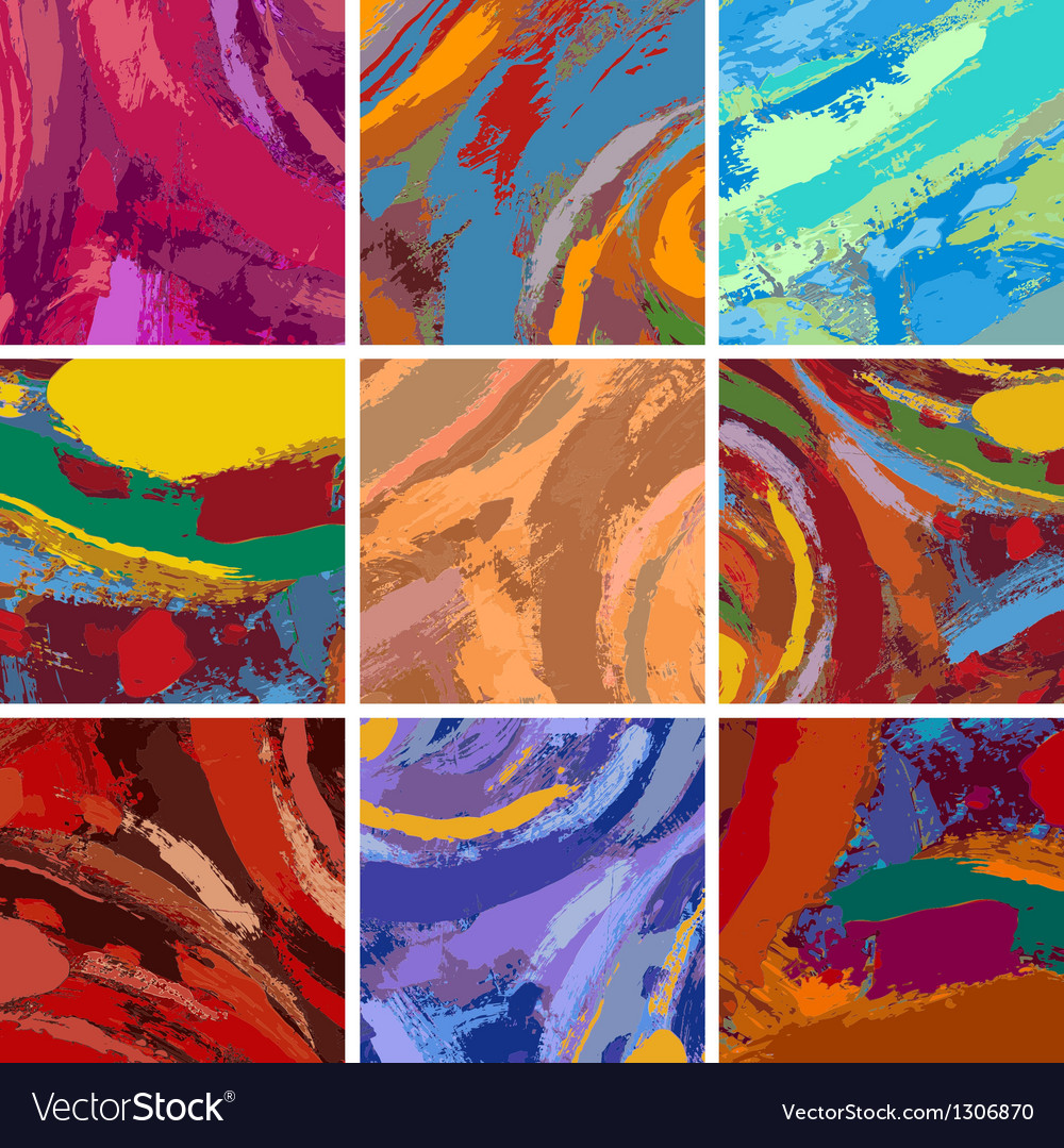 Abstract painting background design set vector image