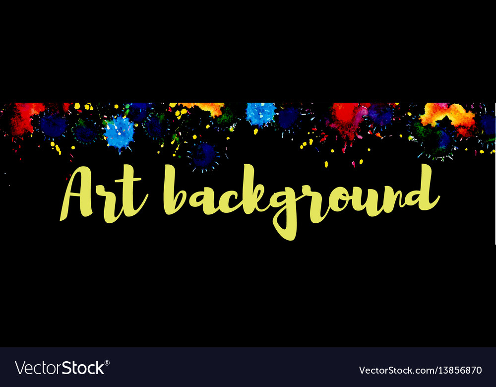 Art background watercolor vector image