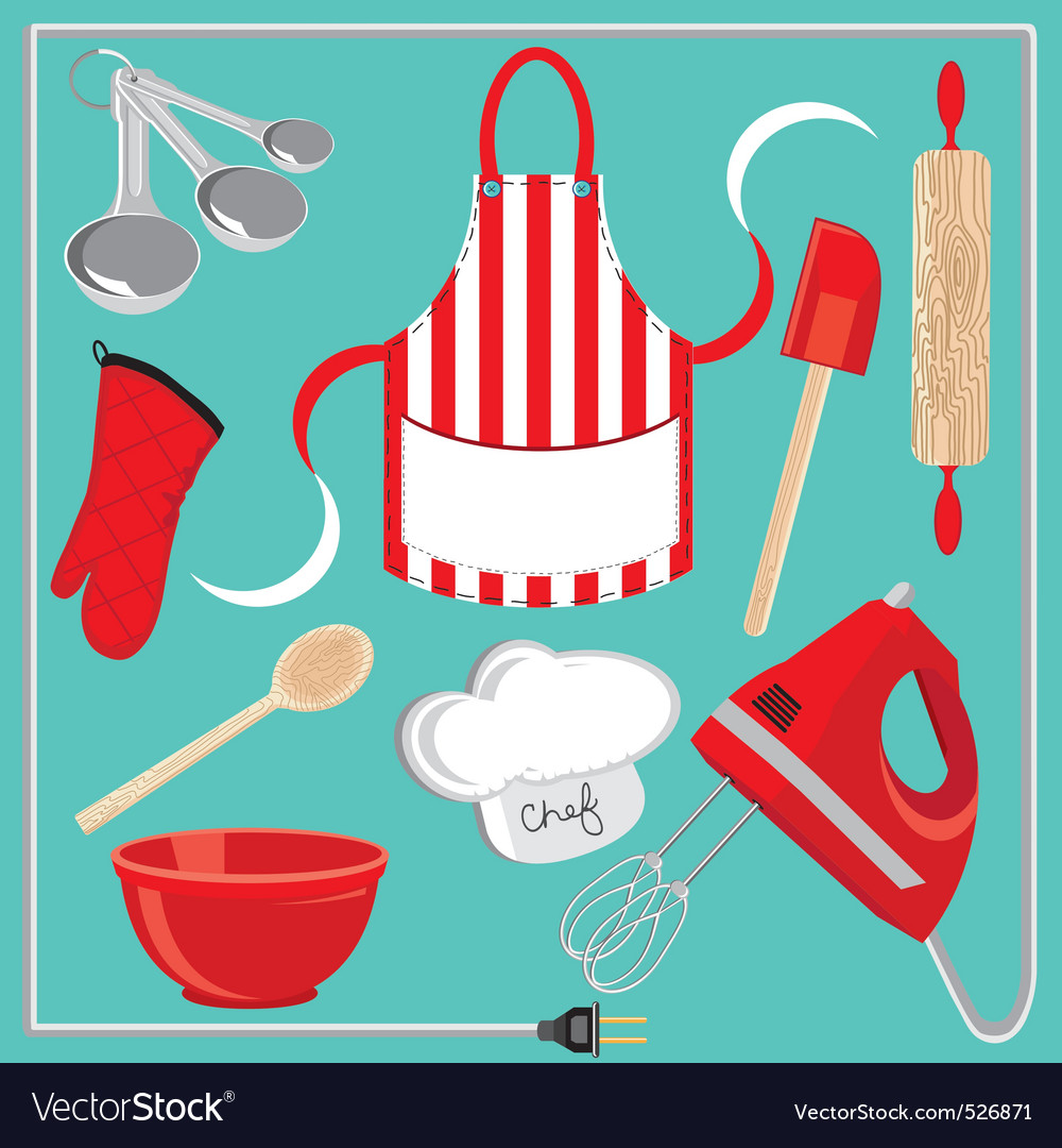 Baking icons and elements vector image
