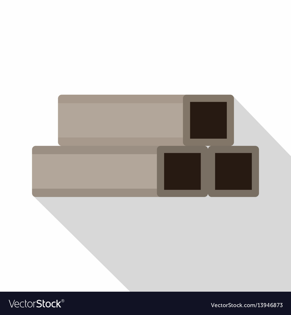 Square metal tubes icon flat style vector image