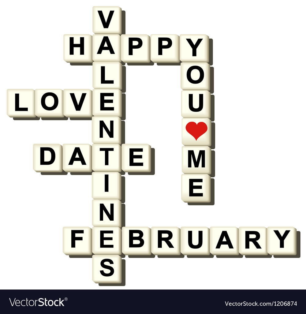 Valentine love game vector image