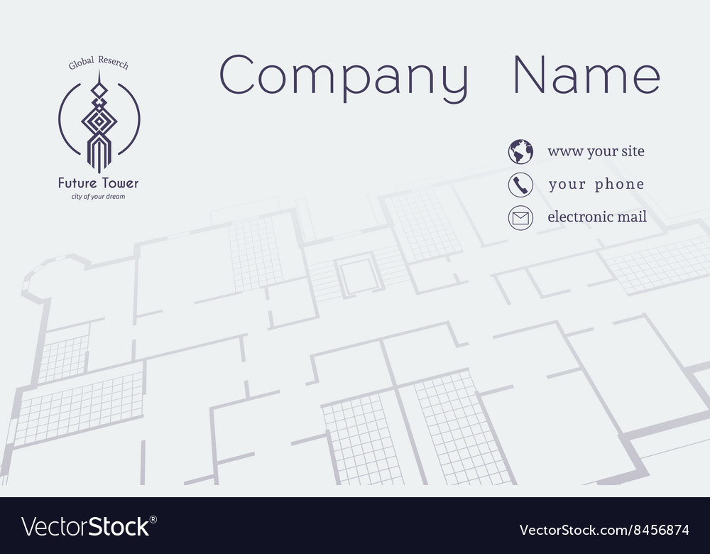 Architectural business card royalty free vector image architectural business card vector image reheart Images