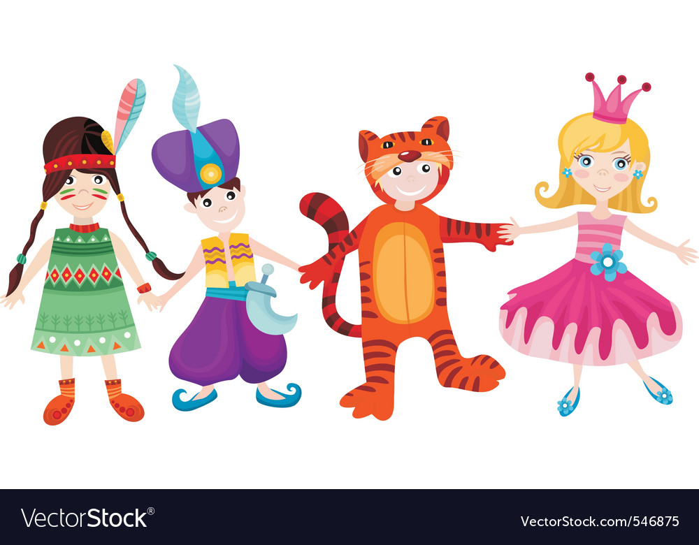 Children set vector image