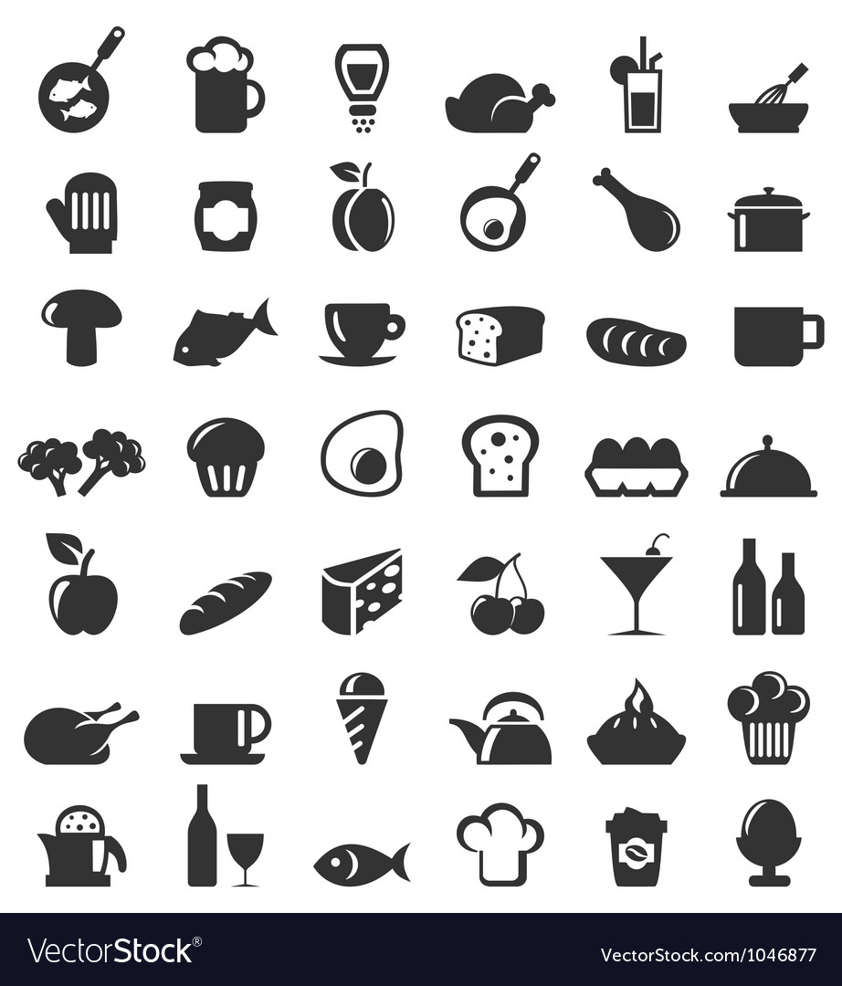 Meal icons6 Vector Image
