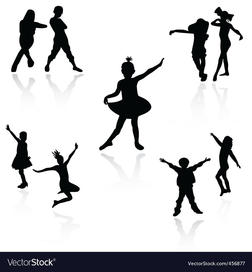 Dancing kids Vector Image