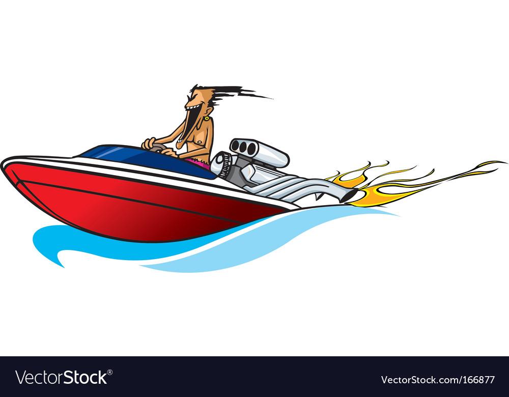 Boat freak vector image