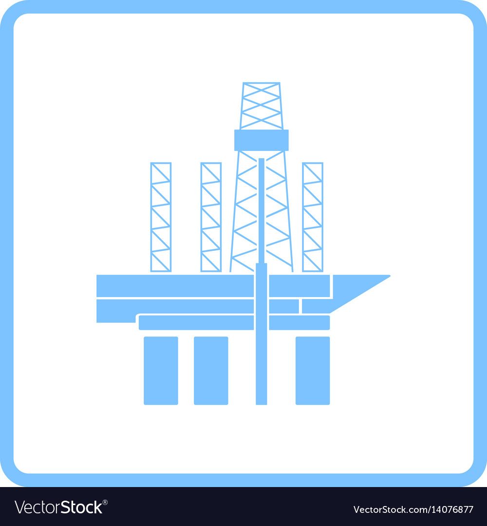 Oil sea platform icon vector image