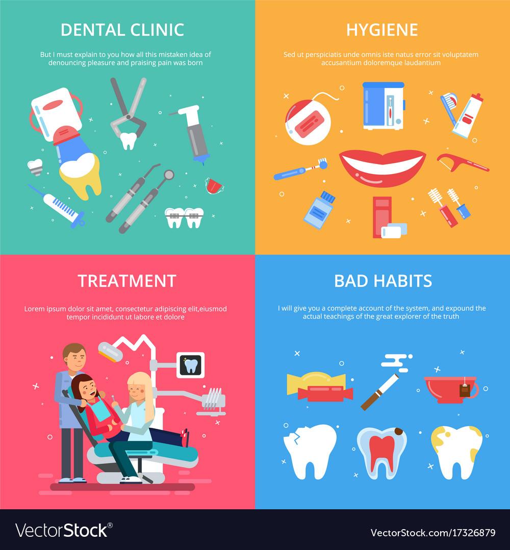 Dentist reception healthcare concept vector image