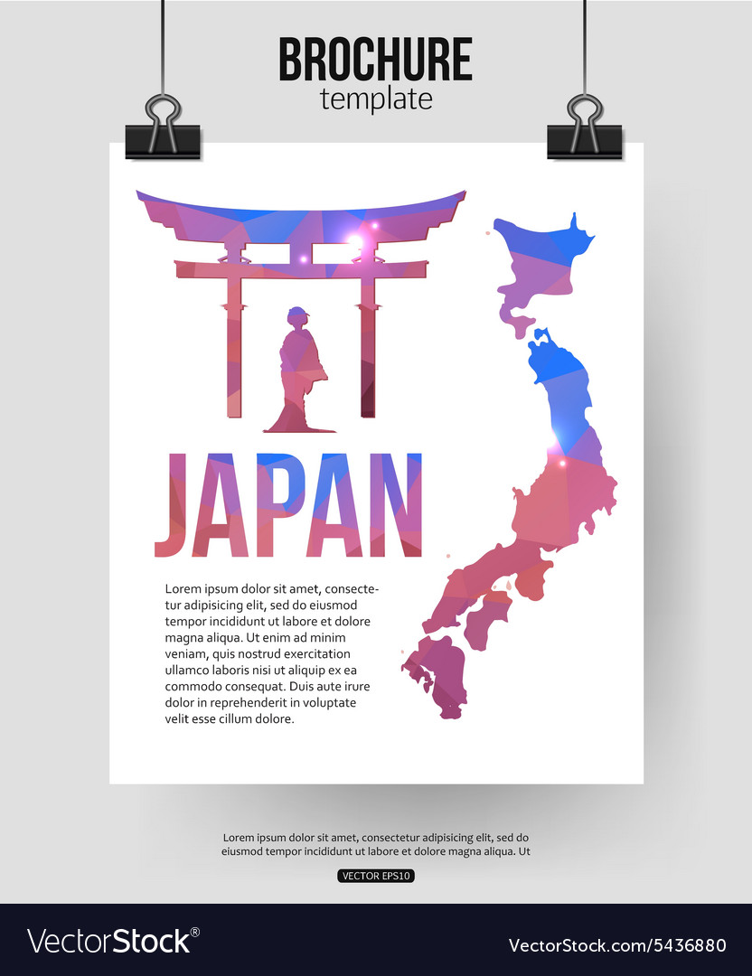 japan travel brochure template