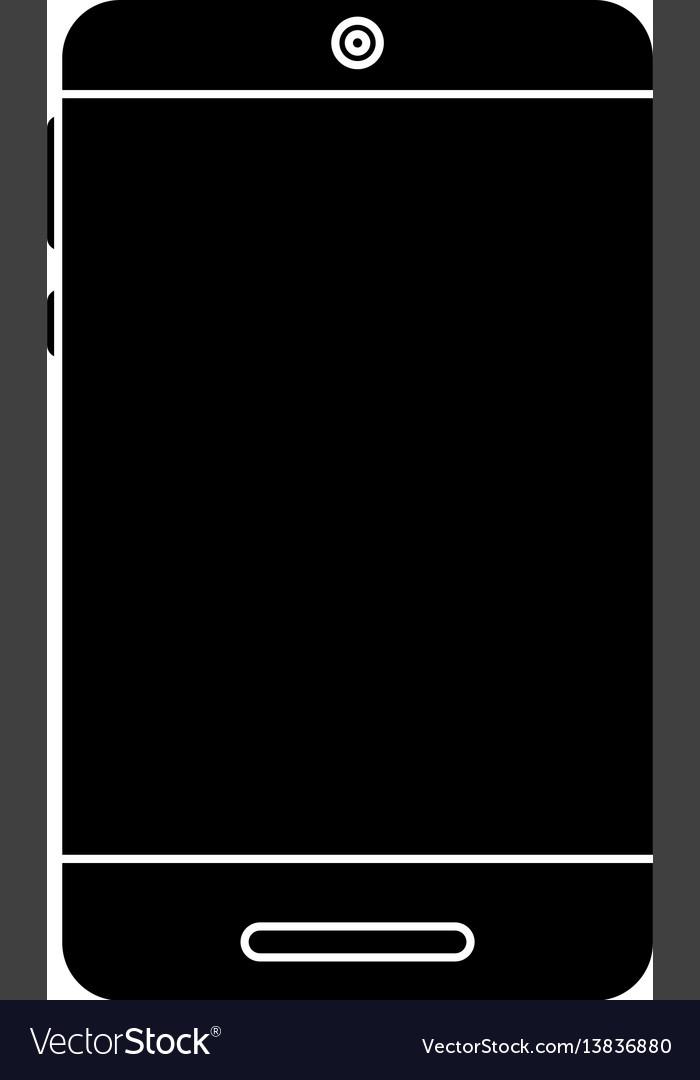 Smartphone technology trendy pictogram vector image