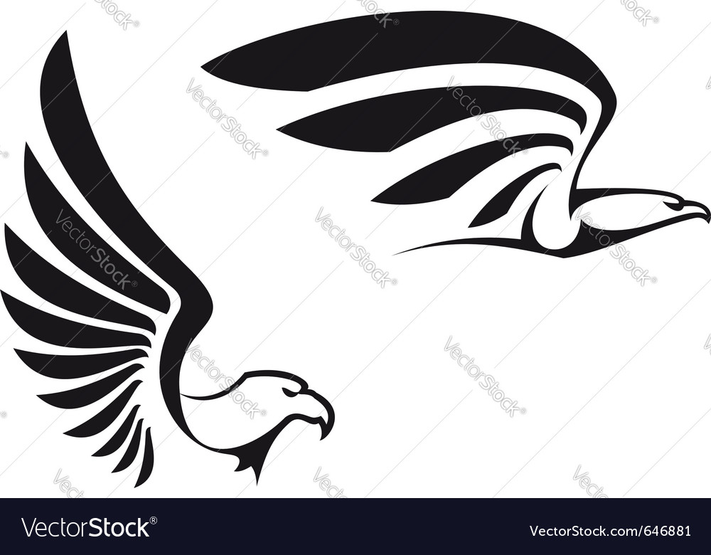 Black eagles vector image