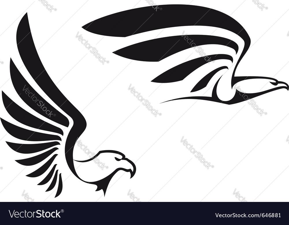Black eagles vector image