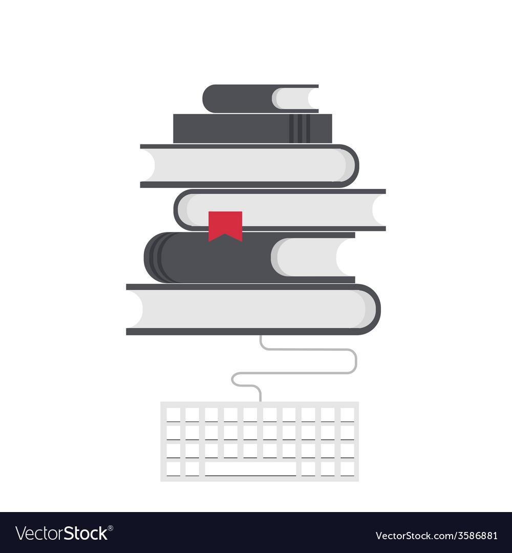 Modern flat education background vector image