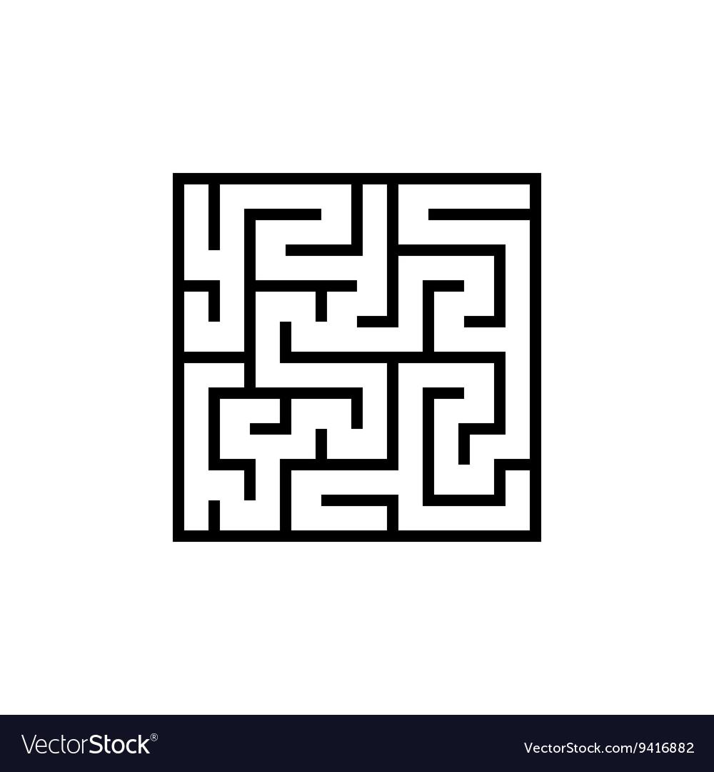 Black line maze icon vector image