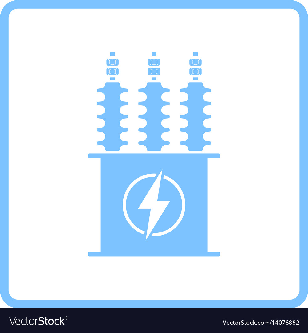 Electric transformer icon vector image