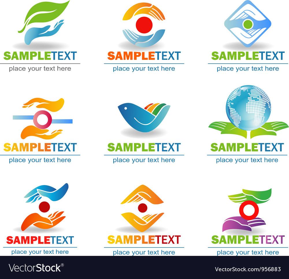 Hands design elements vector image