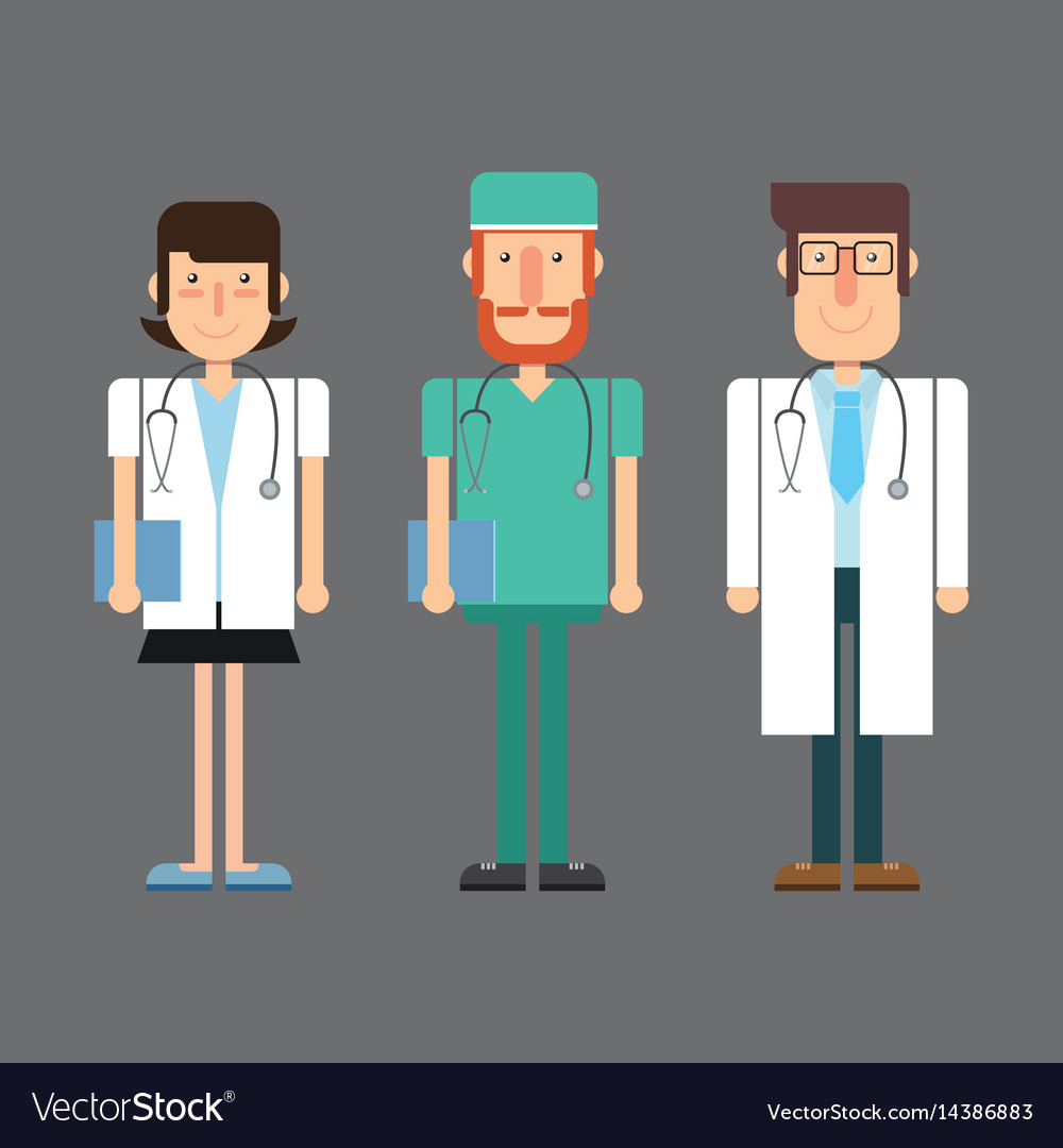 Medical doctors vector image