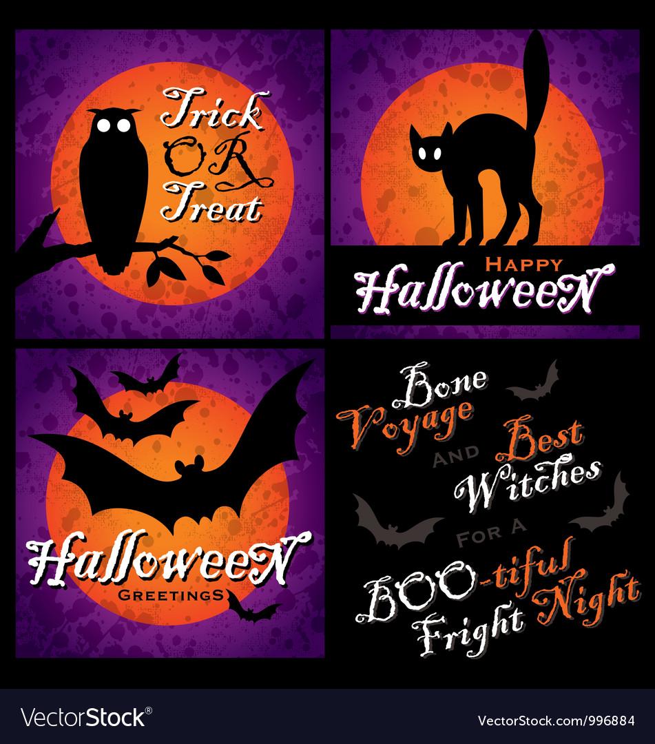 Halloween designs set vector image