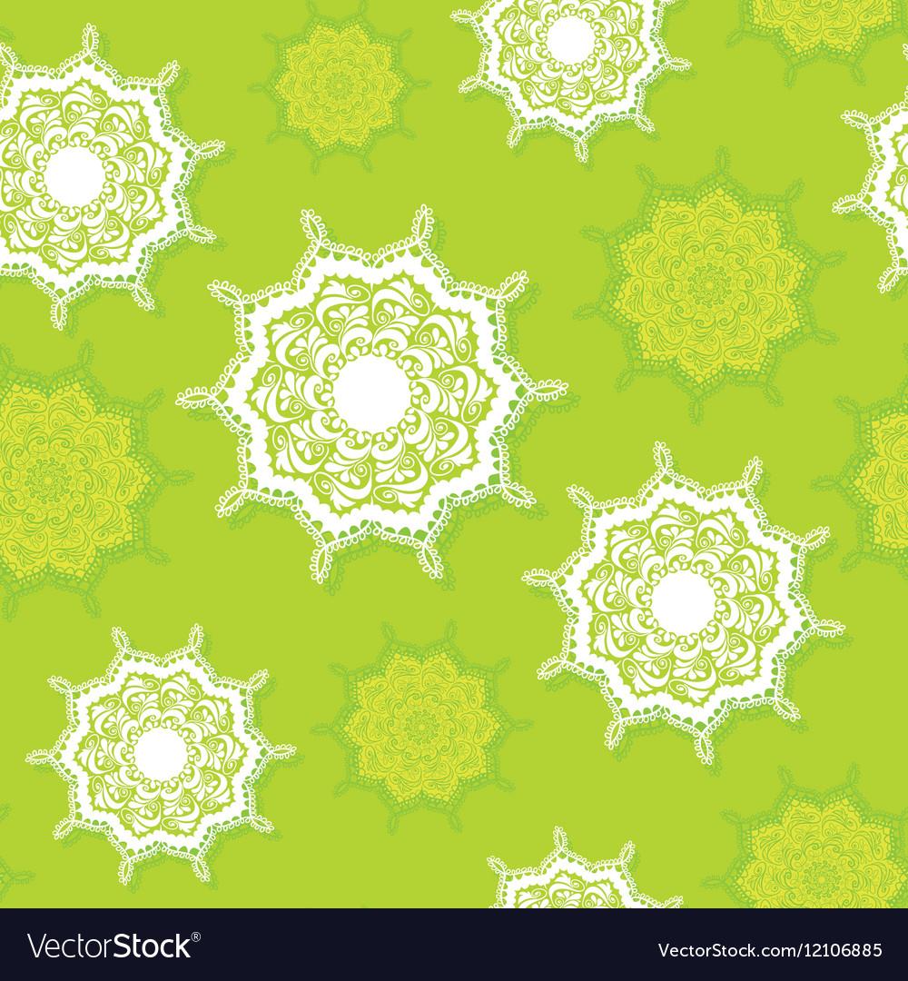 Circular ornament beautiful embroidery vector image