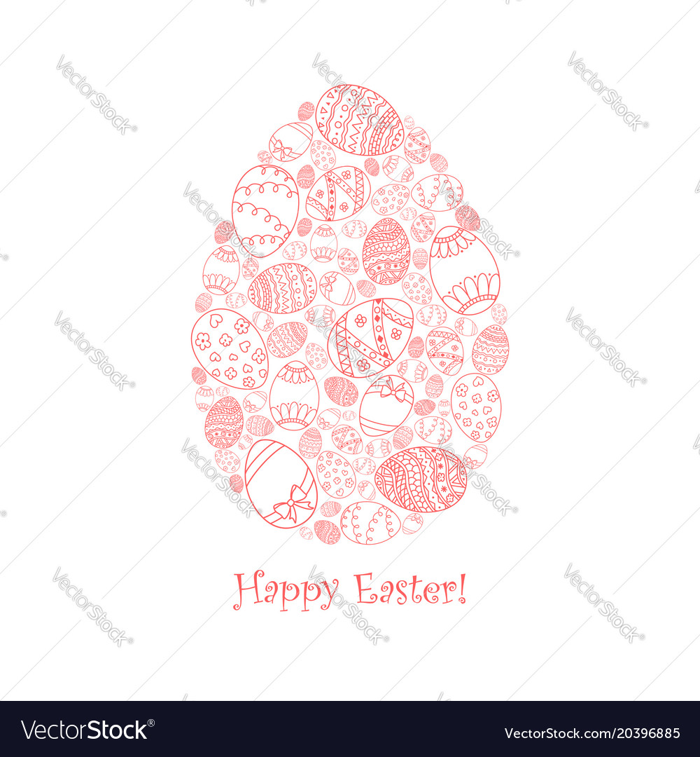 Easter invitation card of egg shape royalty free vector easter invitation card of egg shape vector image stopboris Image collections