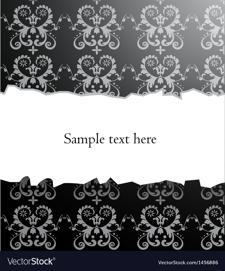 Damask backround vector image