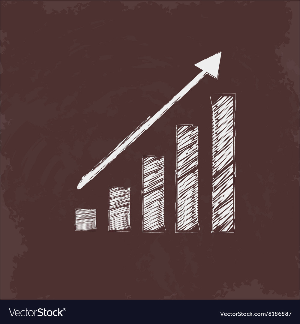 Growth up diagram vector image