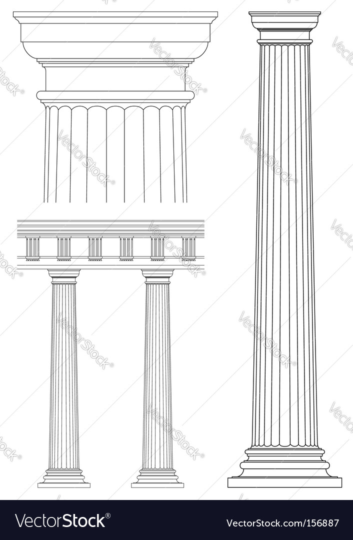 Set of architecture detail vector image