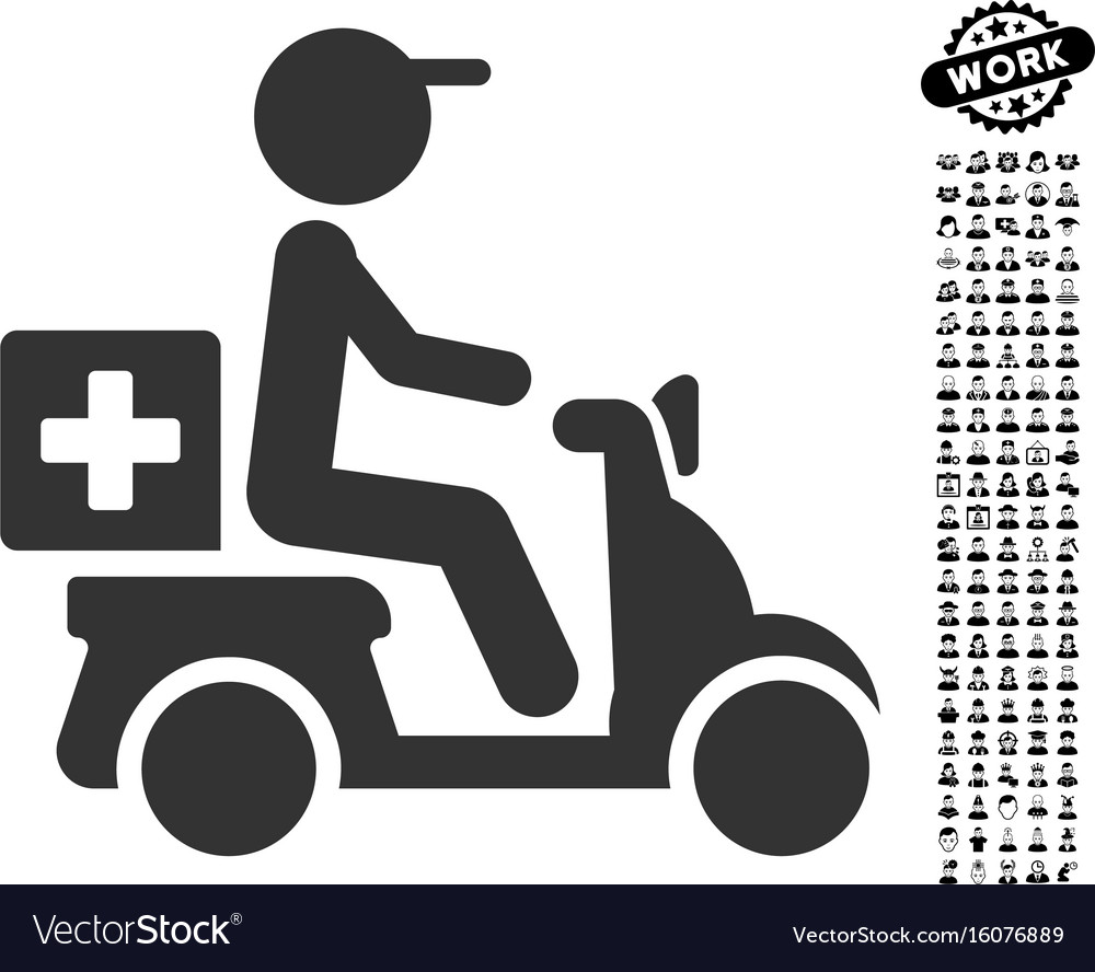 Drugs motorbike delivery icon with professional vector image