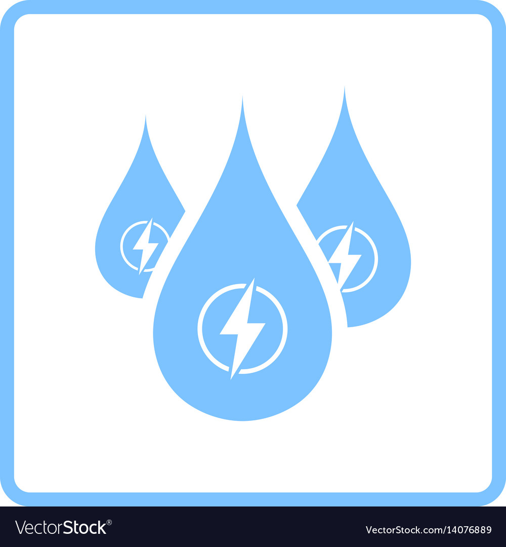 Hydro energy drops icon vector image
