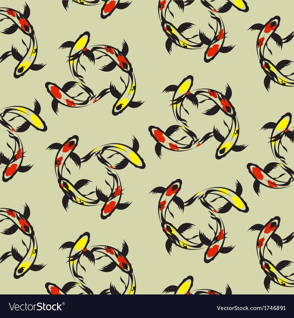 Carp koi wallpaper vector image