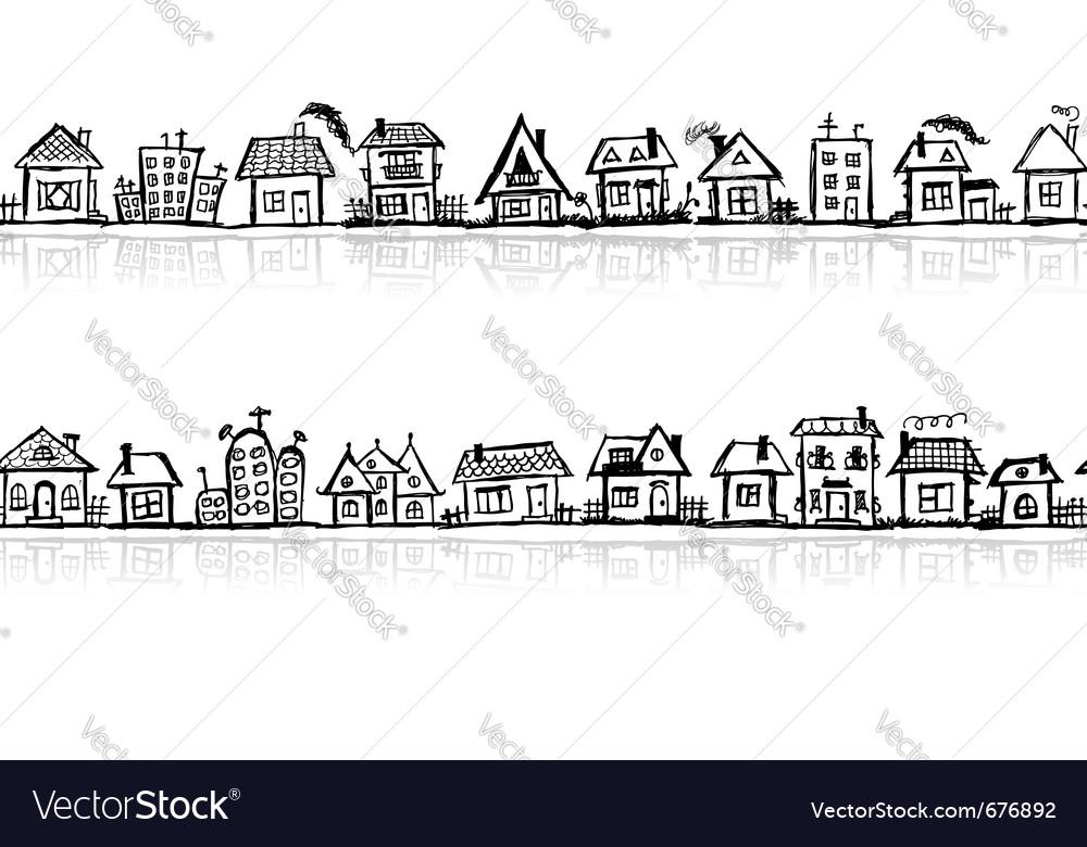 Cityscape sketch vector image