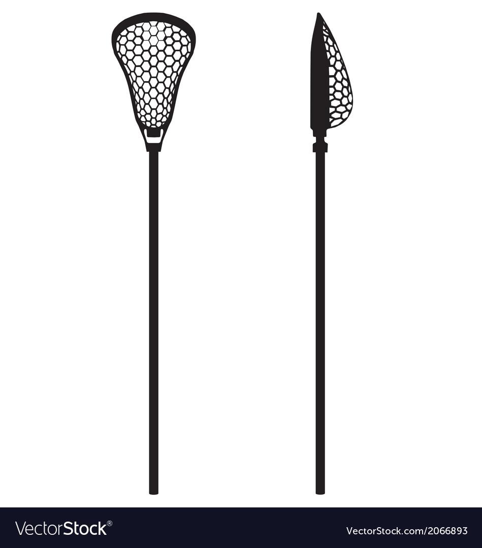 Lacrosse stick vector image