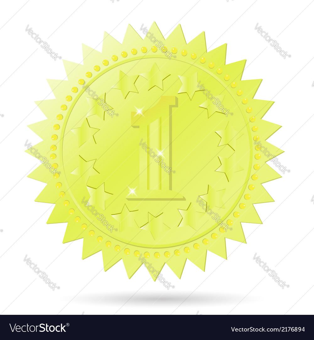 Golden award emblem vector image