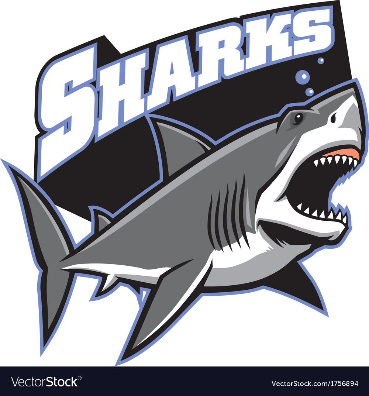 great white shark mascot royalty free vector image