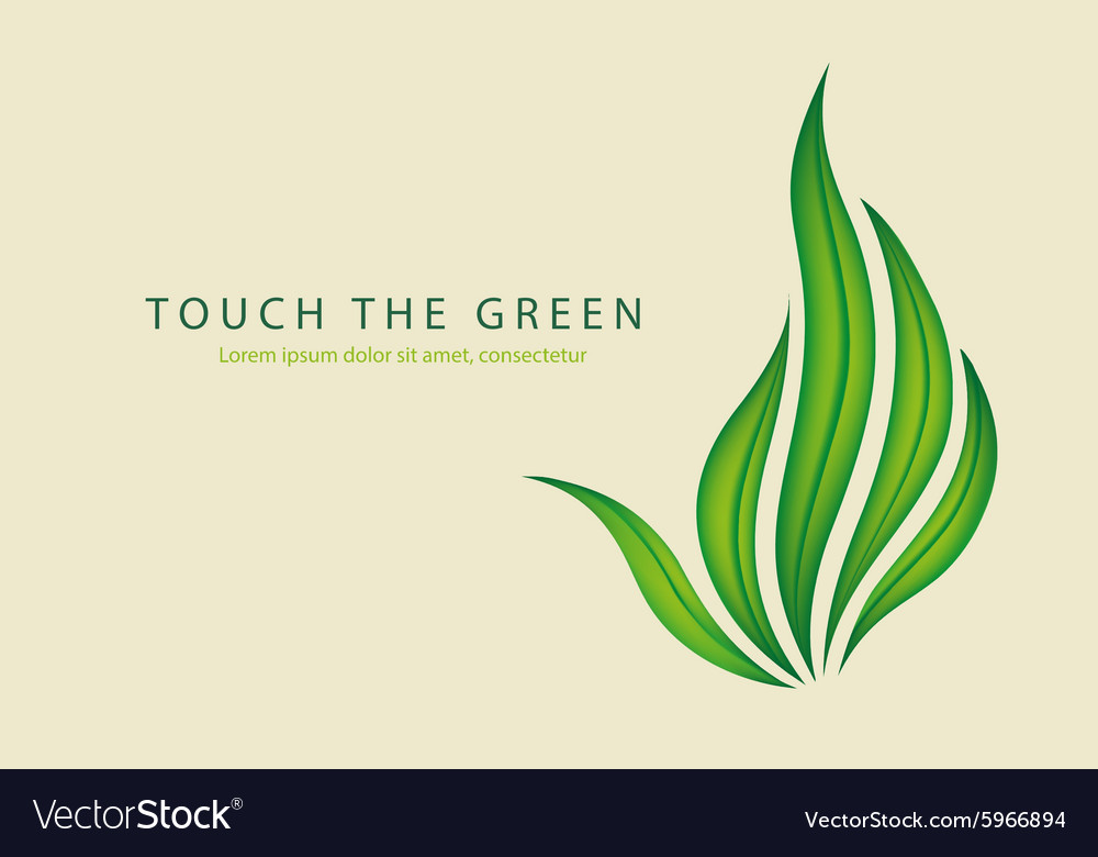 Green leaves of grass as a gesture off vector image