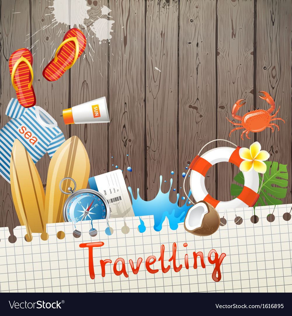 Travelling background vector image