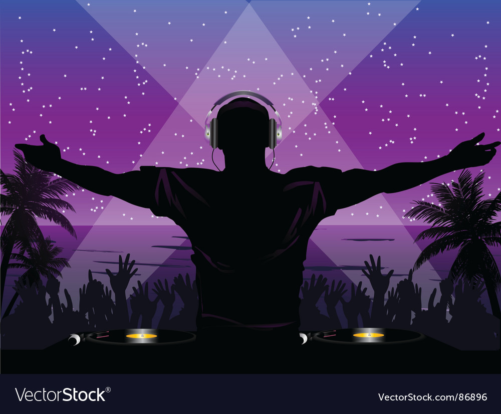 Tropical dj vector image