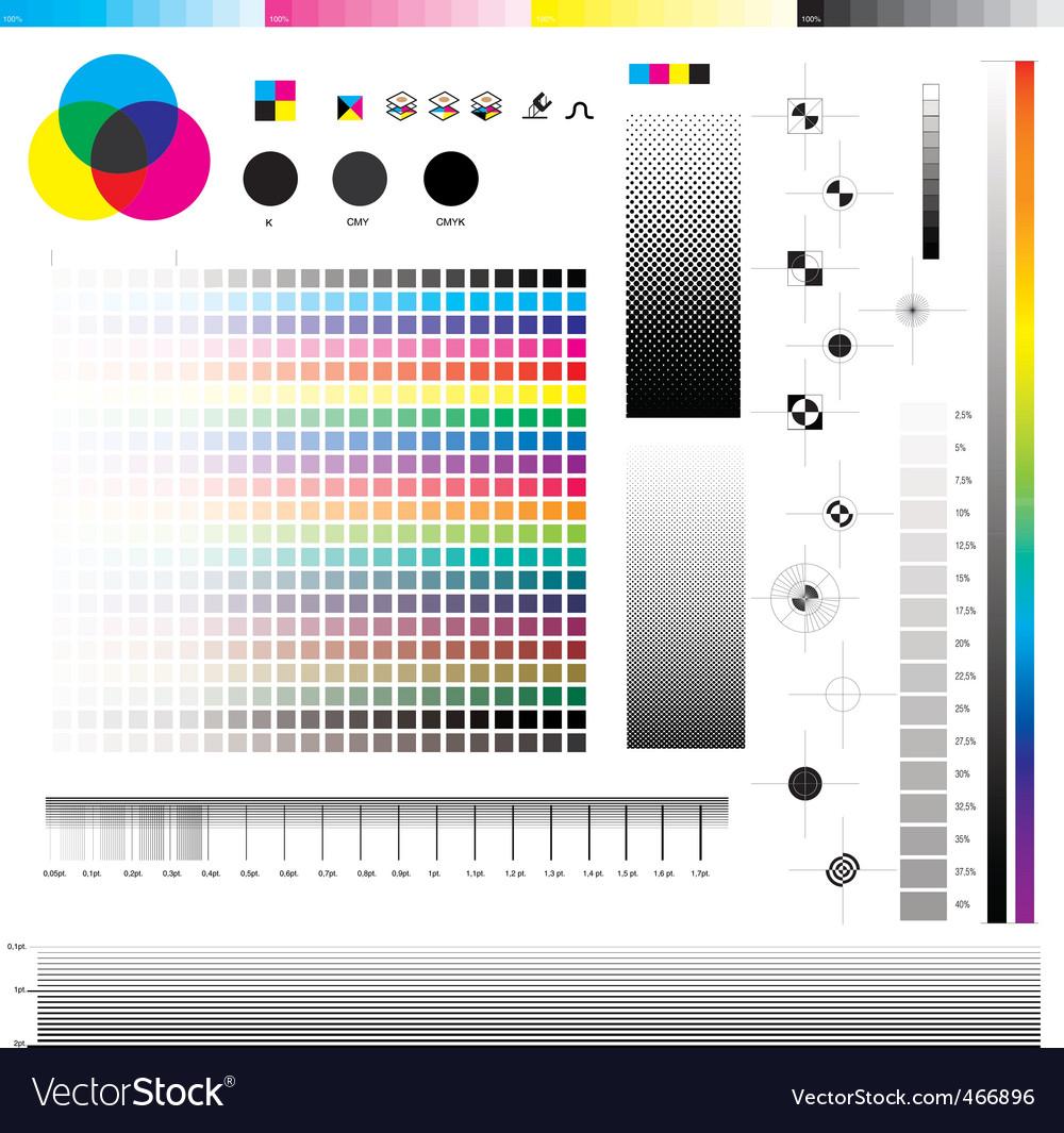 CMYK print utilities vector image