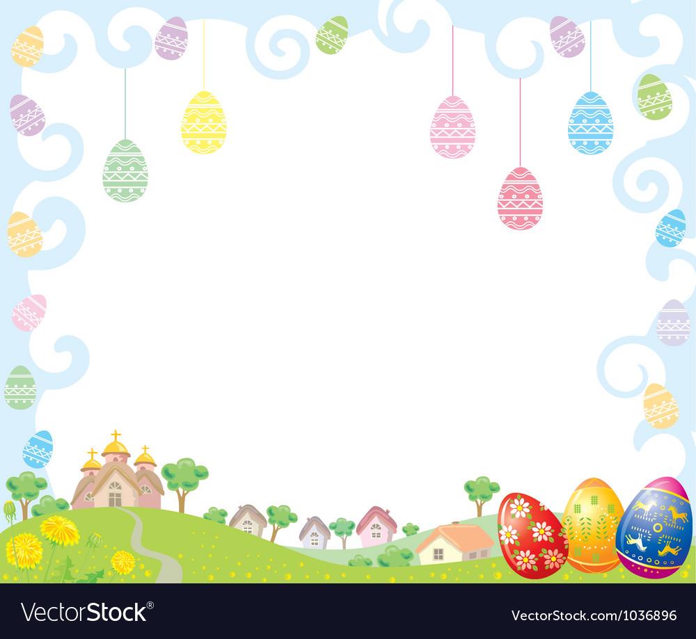 easter frame vector image - Easter Picture Frames