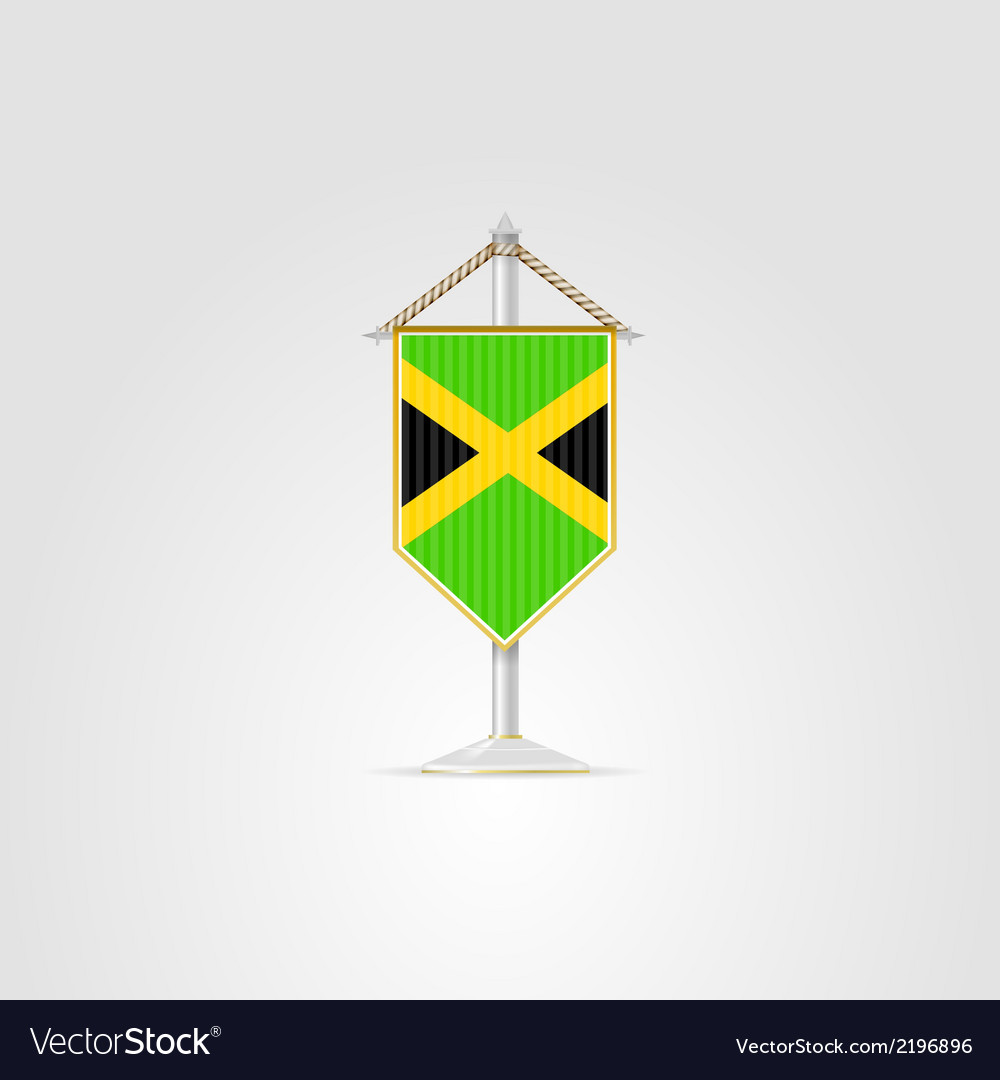 National symbols of Caribbean countries Jamaica vector image