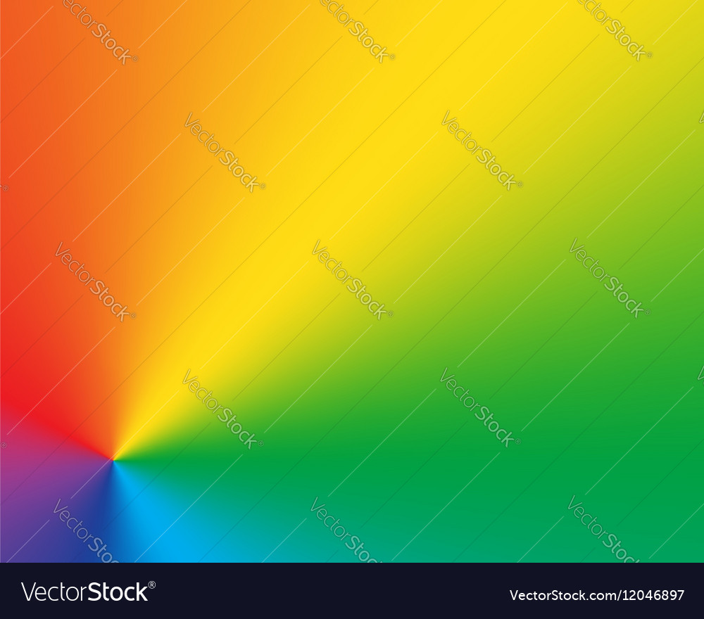 Abstract radial gradient rainbow background vector image
