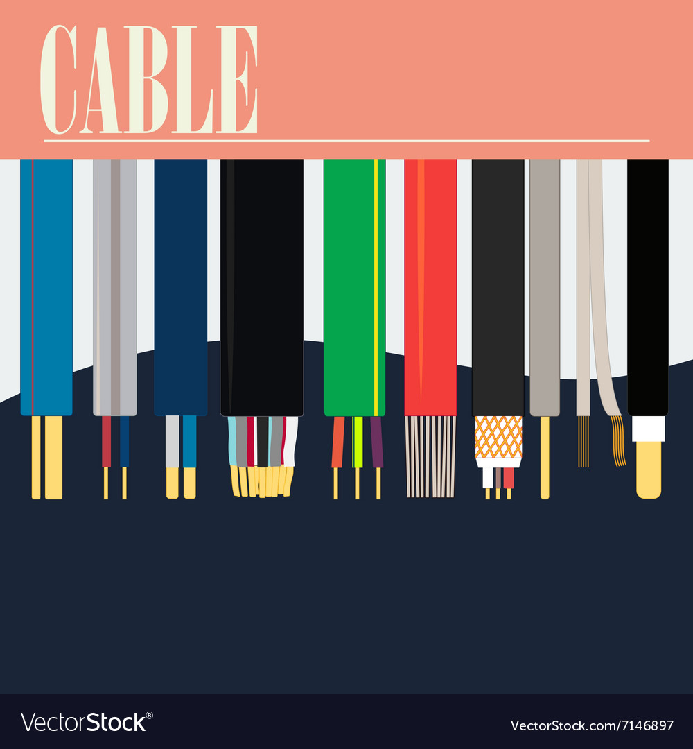 Electric Cable Wire Royalty Free Vector Image - VectorStock