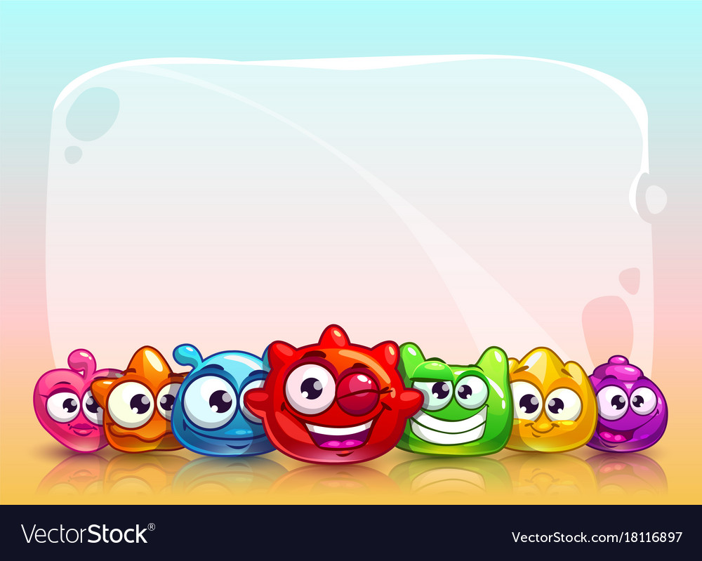 Funny childish banner vector image
