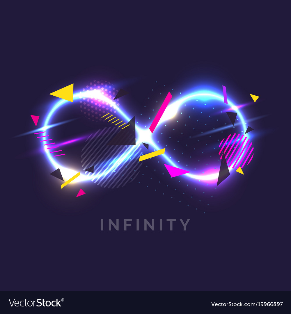 The infinity sign in the modern graphics with glow the infinity sign in the modern graphics with glow vector image biocorpaavc Choice Image