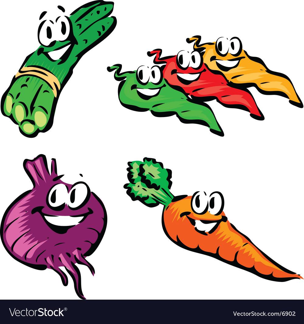 Asparagus jalapeno beet carrot vector image