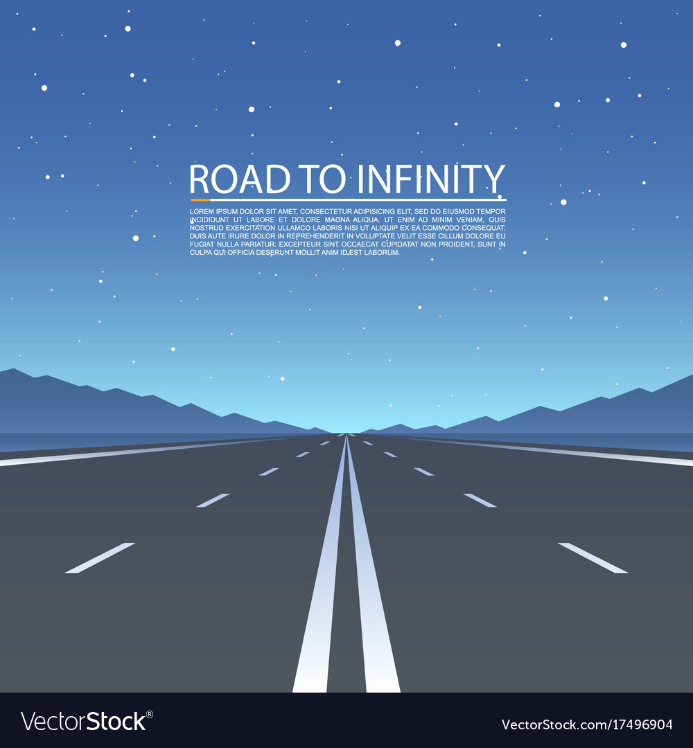 Road to infinity road highway vector image
