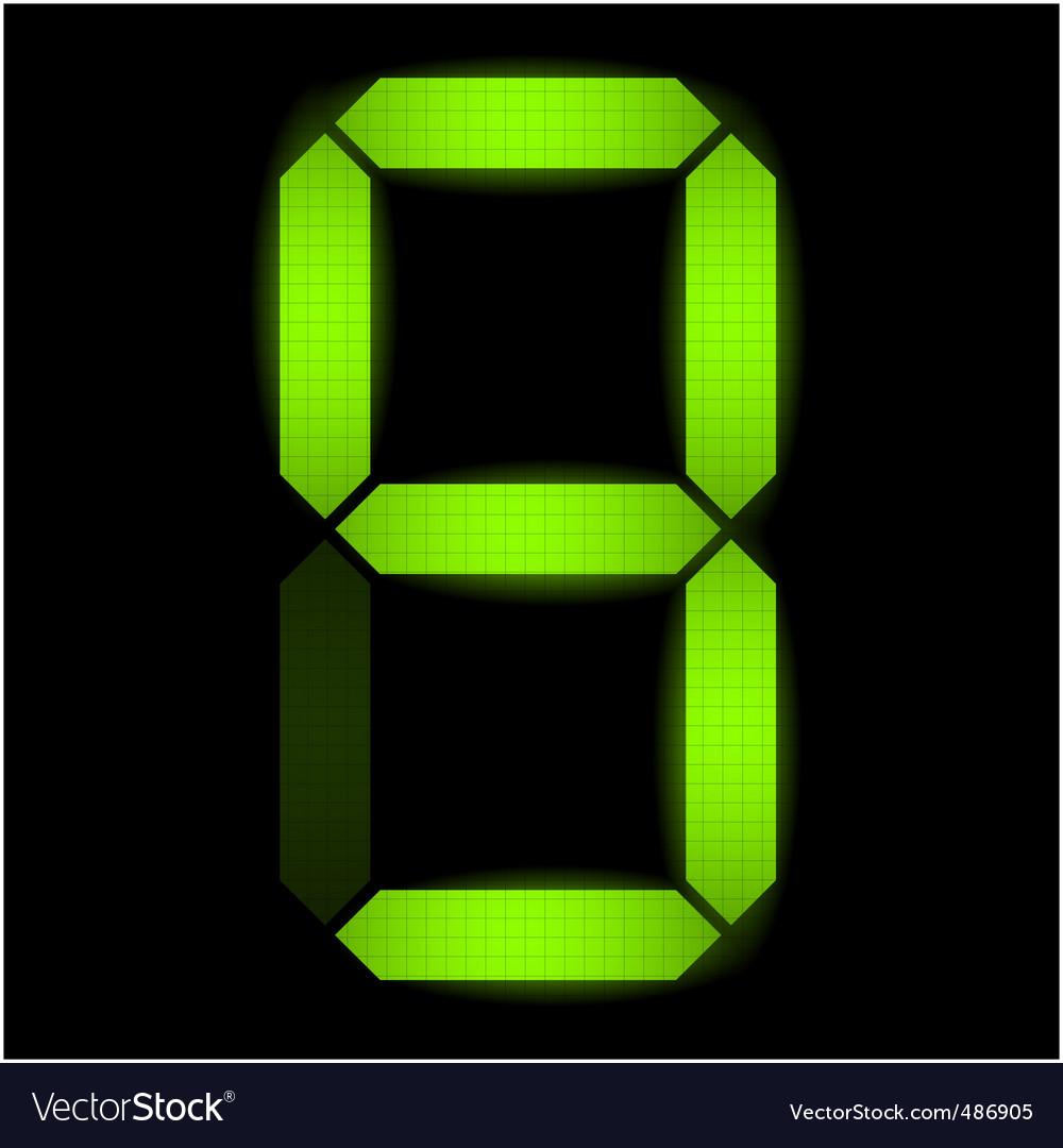 Digital number nine vector image