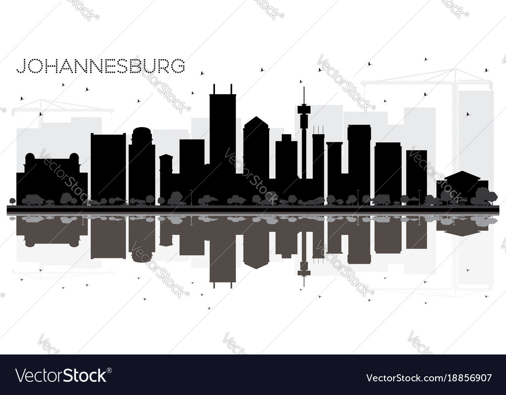 Johannesburg south africa city skyline black and vector image thecheapjerseys Image collections