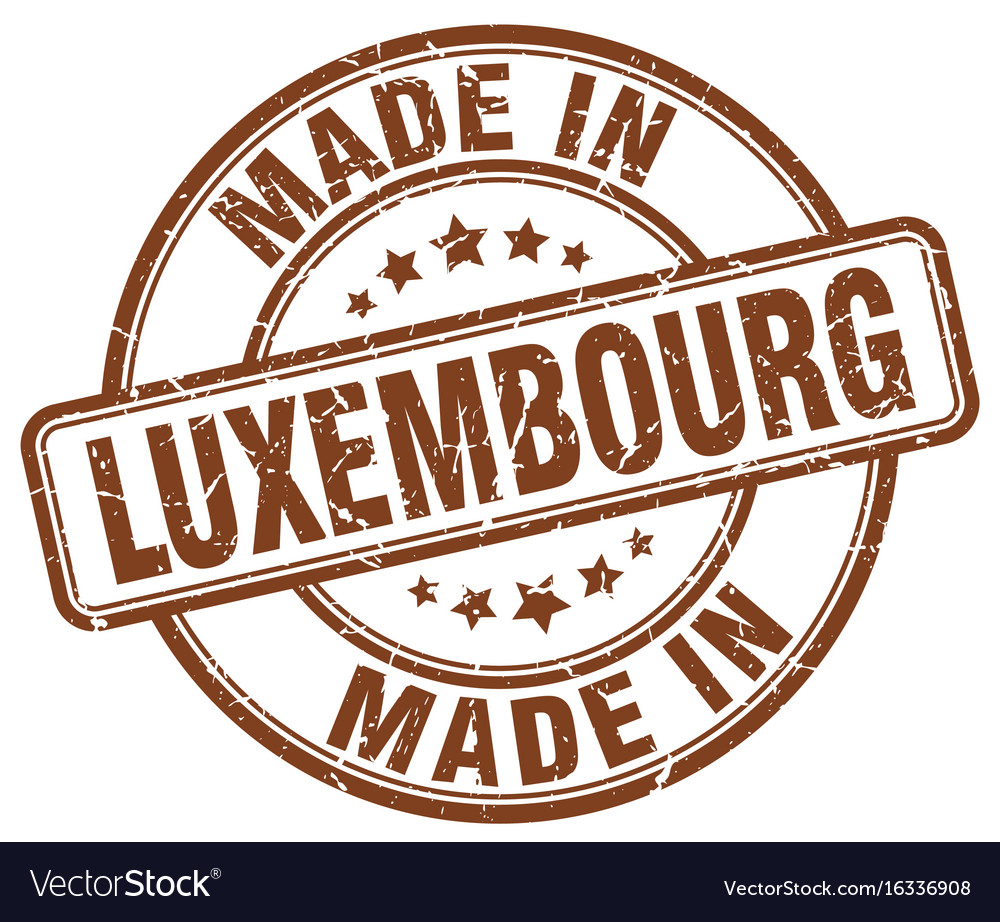Made in luxembourg brown grunge round stamp vector image