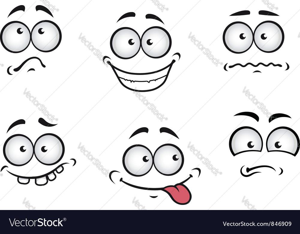 Cartoon emotions faces vector image